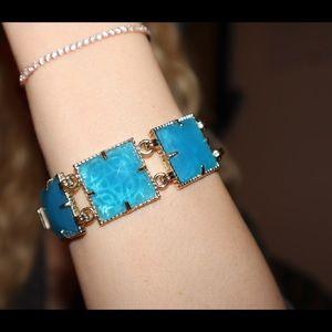 Kendra Scott Electra Bracelet. Blue square stones.